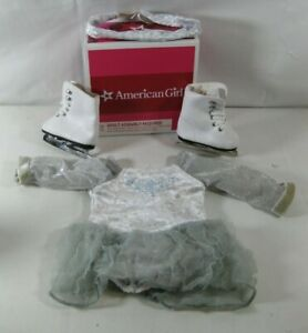 American Girl Doll Silver Sparkly Ice Skating Outfit w/Skates - Authentic