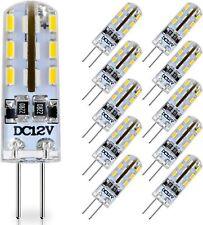 Lot de 10 ampoules maïs 24 perles LED 1,5W  DC12V G4 80lm 24x3014 SMD blanc