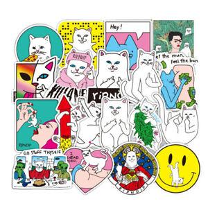50 Pcs RIPNDIP Cat Stickers Laptop Skateboard DIY Decal Vinyl Waterproof Sticker