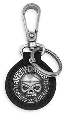 Genuine Harley Davidson® Leather Skull Key Fob Key Ring 99443-06V