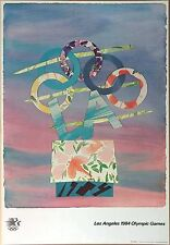 """Billy Al Bengston  Vintage 1984 Los Angeles Olympic Poster 24"""" x 36"""" (61x91.5cm)"""