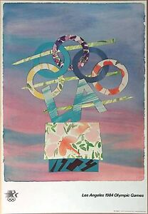 "Billy Al Bengston  Vintage 1984 Los Angeles Olympic Poster 24"" x 36"" (61x91.5cm)"