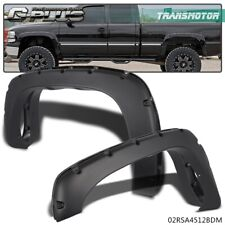 For 99-06 Chevy Silverado GMC Sierra Pocket Style Bolt On Rivet Fender Flares