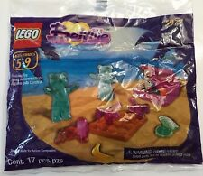 *NEW* Lego BELVILLE 5977 BEARS ON THE BEACH Suitcase Crab Clam Banana