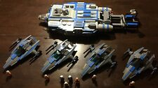Custom Lego Star Wars Fighter Tender/escort with four (4) Fighters!