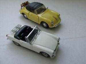 1/43 scale M.G. Midget & Porsche 356 cars