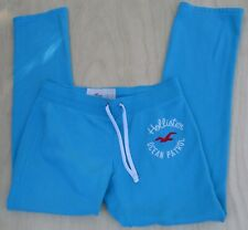 HOLLISTER CALIFORNIA TURQUOISE BLUE SWEAT/LOUNGE PANTS WOMENS SZ L STITCHED