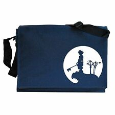 Kingdom Hearts inspired Sora Moon Silhouette Navy Blue Messenger Shoulder Bag
