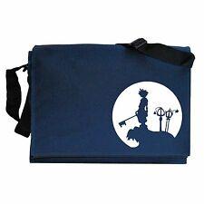 Sora Silhouette Hearts Kingdom Game Inspired Navy Blue Messenger Shoulder Bag