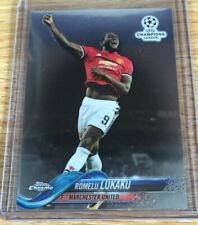 2017-18 Topps Chrome UEFA Champions League Soccer Romelu Lukaku Man United