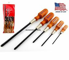 Grace USA 5pc Wooden Phillips Screwdriver Set P0 P1 P2 P3 P4 MADE IN USA