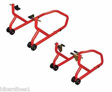 Biketek Front and Rear Paddock Stands Series 3 - Red