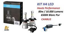 KIT 2 AMPOULE LED H4 CANBUS HAUTE PERFORMANCE 80W 10.000 LUMENS pour auto moto