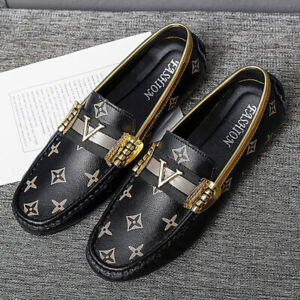 Mens Fashion Smart Slip On Driving Shoes Faux Leather Loafers Casual Moccasin UK