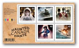 Canada 2748 Haunted Halloween souvenir sheet #1 MNH 2014