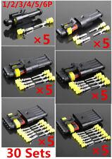30×AMP Tyco 1.5Kit 1/2/3/4/5/6Pin Elektrische Drahtseile Auto-Anschluss Stecker