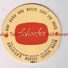 "1950s NEW YORK Liebmann ""Hand Has Never Lost Skill"" SCHAEFER BEER Tavern Trove"