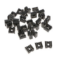 30pcs 2.54mm Row Pitch Pins Soldering DIP IC Chip Socket Adaptor 8P