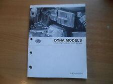 Catalogo parti parts list catalog Harley-Davidson Dyna models nell'anno modello 2004