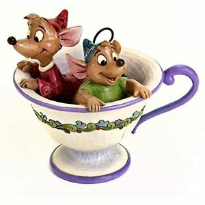 Disney Traditions by Jim Shore Jaq and Gus Teacup Stone Resin Figurine, 4.25