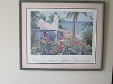 "R. E. Kennedy Framed Windjammer ""Bermuda Cottage"" Print"