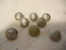 VANCOUVER FIRE DEPARTMENT METAL UNIFORM BUTTONS X 8