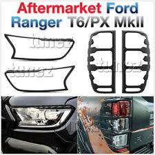 Ford Ranger PX MK2 2016 2017 2018 Matte Black Front Tail Rear Light Lamp Cover T
