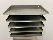Antique industrial letter tray, in tray mid century modern