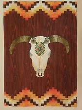 Southwestern Cow Skull for Every day Summer Heat decorative HOUSE flag