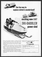 1965 AMF Ski-Daddler Snowmobile & Trailer/Tow Sled photo vintage promo print ad