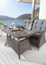 Destiny Gartentisch Loungetisch Casa Vintage Grau Tisch Polyrattan 120 x 75 cm