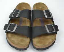 Birkenstock Arizona Soft Footbed Black Leather Slide Sandals Size 38 / 8 N