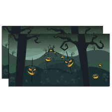 "Department 56 Halloween Backdrop - Set of 2 Each 38.5"" x 20"". - Spooky Fun!"