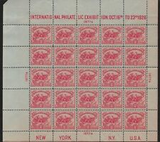 1926 INTERNATIONAL PHILATELIC EXPOSITION MNH WHITE PLAINS SHEET of 25 SC