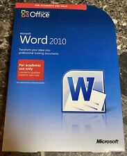 Microsoft Office Word 2010 Disc Genuine Original Box And Product Key Pre-owned