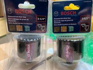 "BRAND NEW SEALED Bosch HDG214 & HDG212 Diamond Grit Hole Saw 2 1/4"" & 2 1/2"""