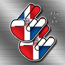 "2x Dominican Shocker Sticker 6"" Die Cut Decals Dominican Republic Vinyl DR"