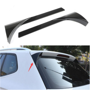 Black Car Rear Window Spoiler Side Wing Lip Cover For Trim VW Tiguan MK2 2017-18