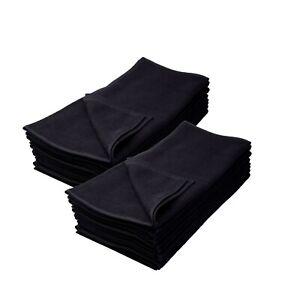 12er Profi-Friseurhandtuch 100% Baumwolle Schwarz farbecht 50x90cm oder 40x90cm