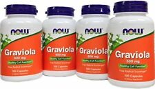 NOW Foods Graviola, 500mg - 4 Bottles, 100 Capsules each