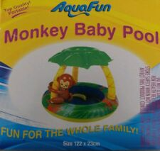 *NEW* Aquafun Inflatable Monkey Baby Pool 122cm x 23cm