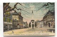 Chambery - La Colonne des Elephants, Le Boulevard - 1915 France postcard