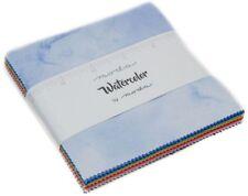 "Watercolor Moda Charm Pack 42 100% Cotton 5"" Precut Fabric Quilt Squares"
