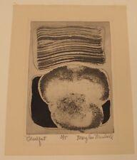Vintage Signed modernist print Breakfast Mary Ann Marshall