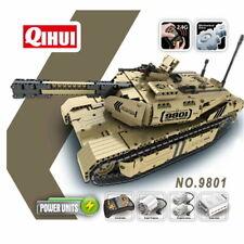 Qihui 9801 Mechanical Master RC Militär Baustein-Panzer mit Fernsteuerung 2,4GHz