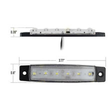12V 6 LED Truck Boat BUS Trailer Underbody Side Marker Indicators Light White
