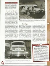FICHE AUTOMOBILE - LA PACKARD STATION SEDAN 1948