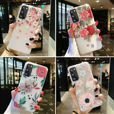 Samsung Galaxy S20 Ultra S20 Plus Frosted Clear Case Cute Girls Flower TPU Cover
