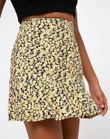 MOTEL ROCKS Gaelle Skirt in Mini Bloom Yellow XS (mr95)