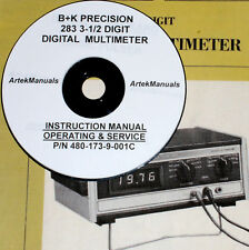 Manual for  B+K PRECISION 283 Digital Multimeter Operation +Service +Schematics